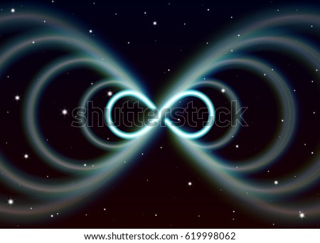 Magie symbole infini huit mystique brillant Photo stock © SwillSkill
