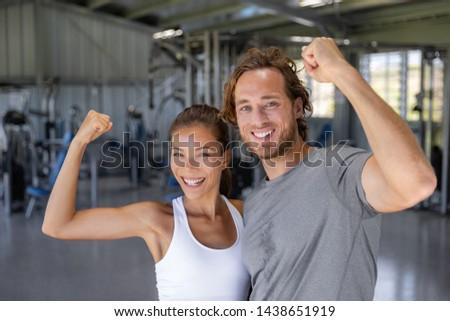 小さな · 幸せ · 女性 · 筋肉 - ストックフォト © maridav