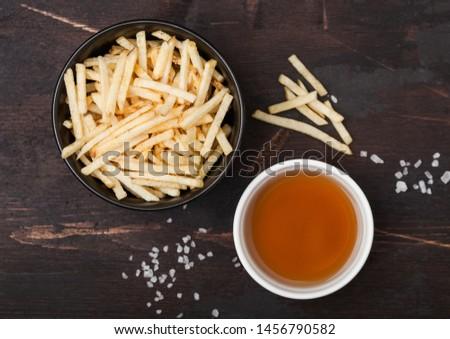 Zout azijn aardappel witte kom klassiek Stockfoto © DenisMArt