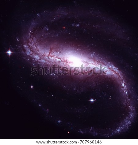 NGC 7479 is a barred spiral galaxy in the constellation Pegasus. Stock photo © NASA_images