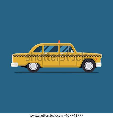 A vintage antique yellow taxi cab on city streets of New york Stock photo © Lopolo