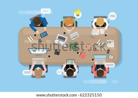 Tabela topo reunião teia gráficos composição digital Foto stock © wavebreak_media