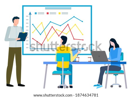 Entrepreneur using mobile laptop for analyse a business solution stock photo © ijeab