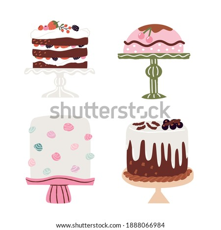 Brown and Pink Muffin Icon isolated on a White Background Vector Stock photo © cidepix