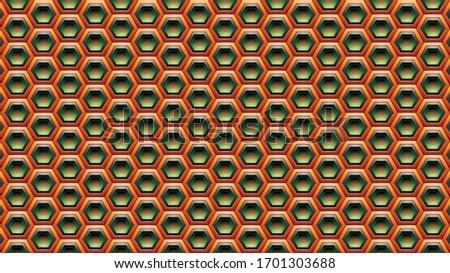 оранжевый зеленый черный шестиугольник вектора текстуры Сток-фото © cidepix