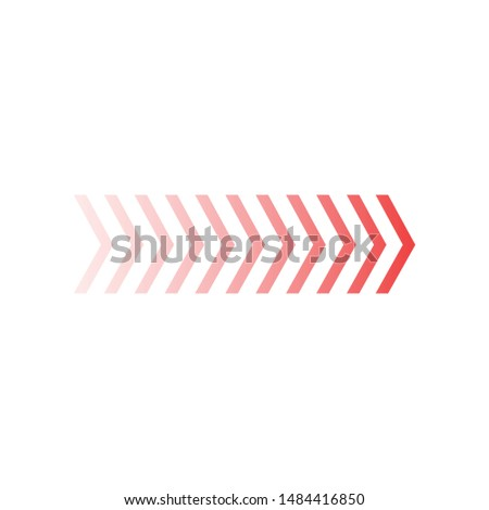 Fade chevron arrows right, vector illustration isolated on white background. Stock photo © kyryloff