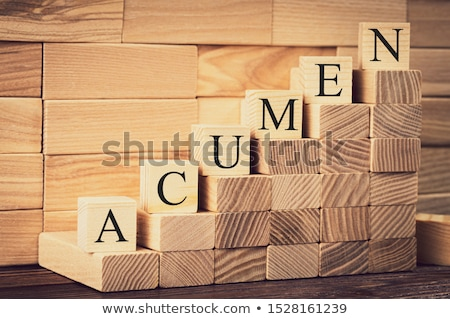 Acumen Word Made With Wooden Blocks Stock photo © AndreyPopov