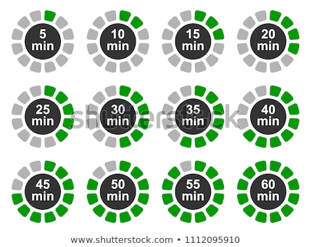 Alarm clock showing five minutes to twelve. Stock photo © lichtmeister
