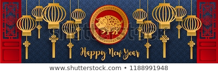 Chinese Lantern Cultural Decoration Color Vector Stock photo © pikepicture
