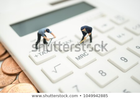 Stock photo: Business woman or accountant working Financial investment on dig