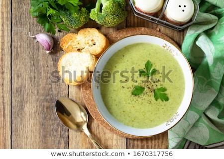 Vegan zöld brokkoli leves smoothie kókusz Stock fotó © furmanphoto
