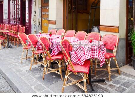 cafe · Parijs · Frankrijk · romantische · parijzenaar - stockfoto © neirfy