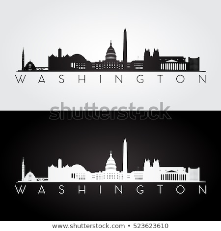Washington skyline hemel huis gebouw abstract Stockfoto © Mark01987