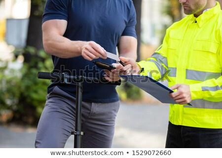Człowiek elektryczne oficer Zdjęcia stock © AndreyPopov