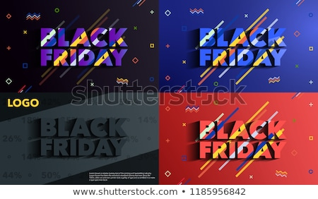 black friday shopping sale banner in line style stock photo © sarts