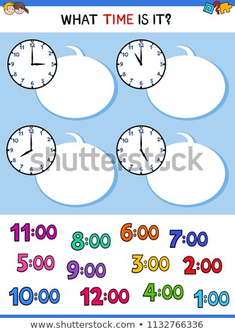 telling time educational task with kid characters Stock photo © izakowski