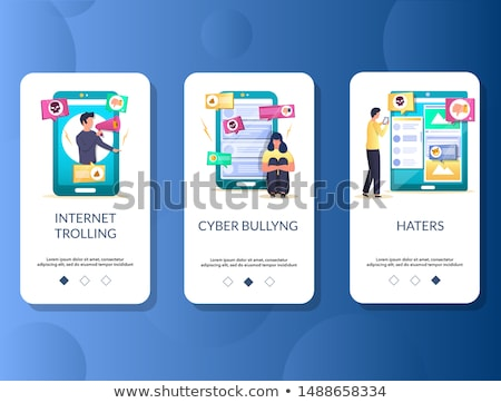 mobil · ui · készlet · hírnök · vektor · chat - stock fotó © rastudio
