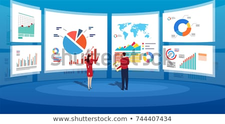 data analysis diagram report business vector stock photo © robuart