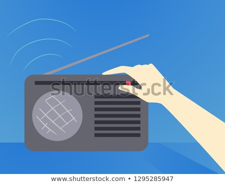 El kasırga dinlemek radyo örnek arama Stok fotoğraf © lenm