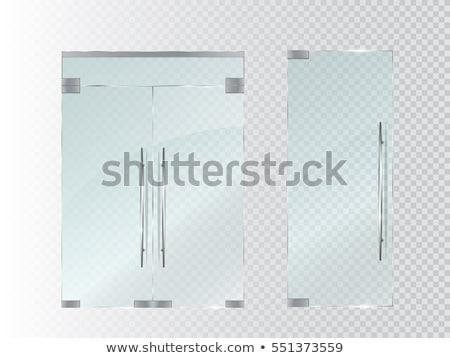 Cam kapılar gümüş işlemek çerçeve vektör Stok fotoğraf © pikepicture