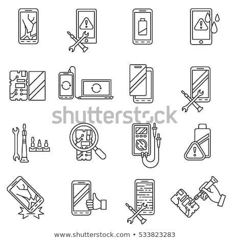 Broken Devices Icon Vector Outline Illustration Stock photo © pikepicture