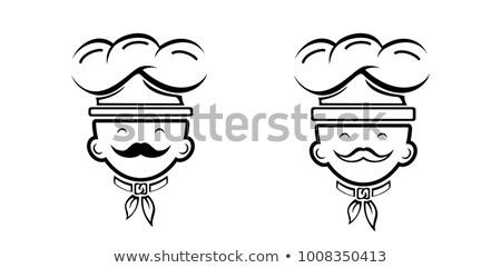Maschio maestro chef carattere cartoon arte Foto d'archivio © vector1st