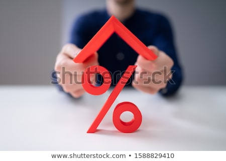 House Roof Over Percentage Sign Stock photo © AndreyPopov