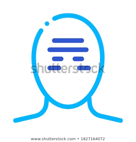 Tension Band Squeezing Head Headache Vector Icon Stock photo © pikepicture