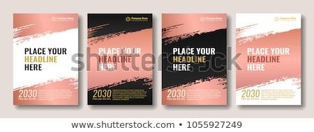 golden paint brush stroke background design vector illustration Stock photo © SArts