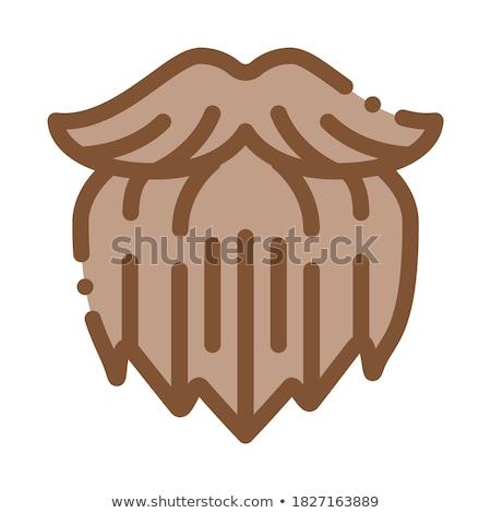 Emberi brutális szakáll ikon skicc illusztráció Stock fotó © pikepicture