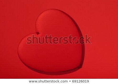 Acrylic heart shape miniature Stock photo © homydesign
