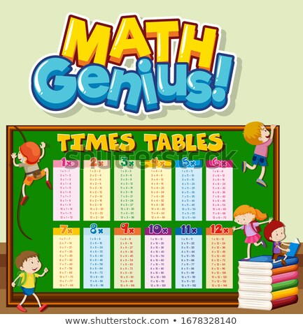 Font design for word math genius with times tables Stock photo © bluering