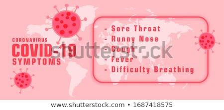 coronavirus covid 19 symptons with virus spread bannerdesign stock photo © sarts