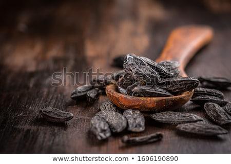 香ばしい 豆 料理 暗い 木材 ストックフォト © brebca