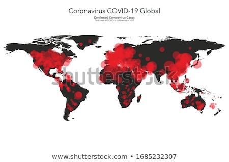 Coronavírus infecção vermelho bandeira saúde notícia Foto stock © SArts