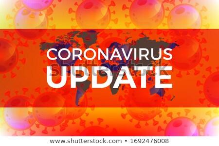 covid19 coronavirus latest news and updates red banner Stock photo © SArts