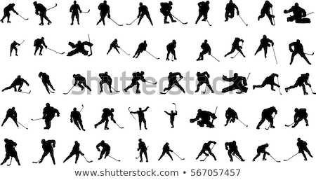silhouette of a hockey player stock photo © mayboro