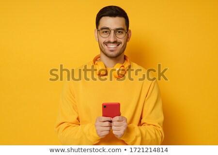 画像 小さな ハンサムな男 着用 セーター ストックフォト © deandrobot