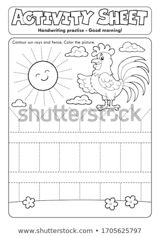 Activity sheet handwriting practise topic 2 Stock photo © clairev
