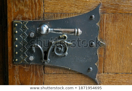 Antique wooden blacksmith forge house Stock photo © olira