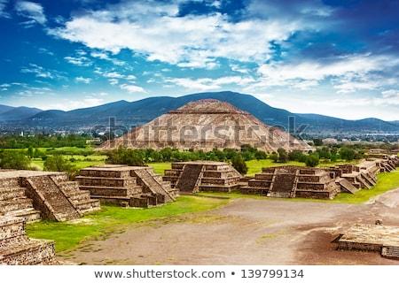 Piramides Mexico noorden amerika 17 zon Stockfoto © Anna_Om