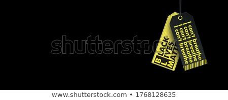 Fekete fejléc matricák fehér eps 10 Stock fotó © limbi007