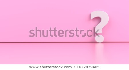 A white question mark on the pink background. 3d illustration. Stock photo © limbi007