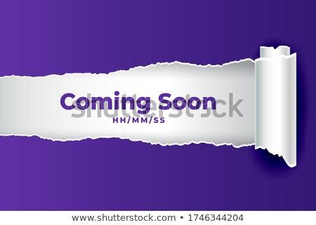 аннотация в ближайшее время рваной бумаги стиль бизнеса строительство Сток-фото © SArts