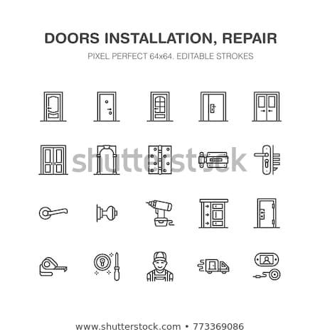 Home Decor Pixel Perfect Linear Icon Stok fotoğraf © Nadiinko