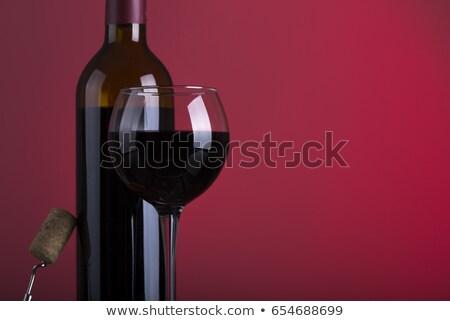 White and rose wine bottle and ripe grape Stock photo © karandaev