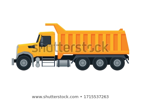 Stock photo: yellow truck