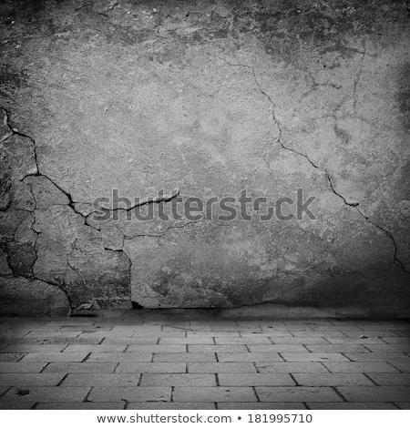 Kopott tégla járda keret fű út Stock fotó © Ansonstock