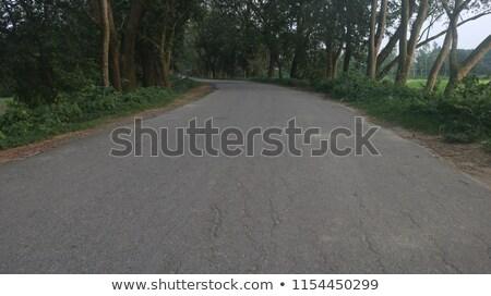 зеленый · дорожный · знак · шоссе · знак · облаке · улице · знак - Сток-фото © kbuntu