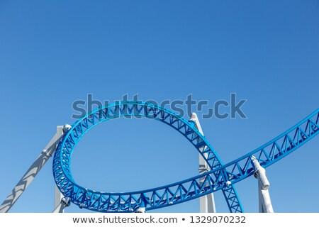 Stock photo: Sky rollercoaster